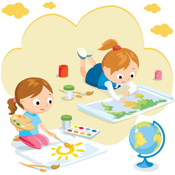 Детские занятия творчеством в детском клубе на английском в Мурманске